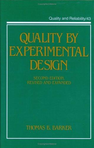 Download Quality by experimental design