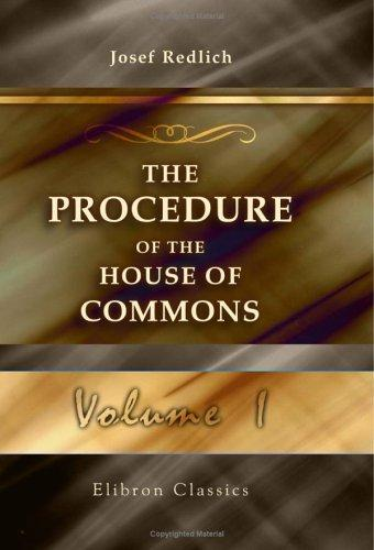 The Procedure of the House of Commons