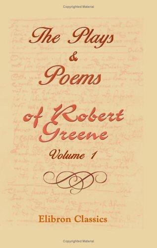Download The Plays & Poems of Robert Greene