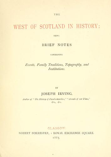 The west of Scotland in history