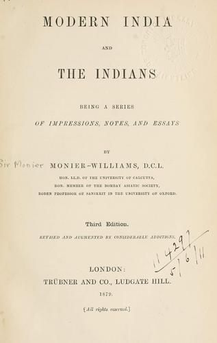 Download Modern India and the Indians