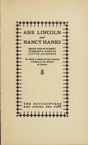 Download Abe Lincoln and Nancy Hanks