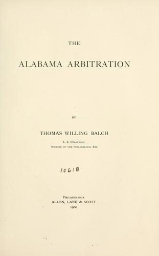 The Alabama arbitration