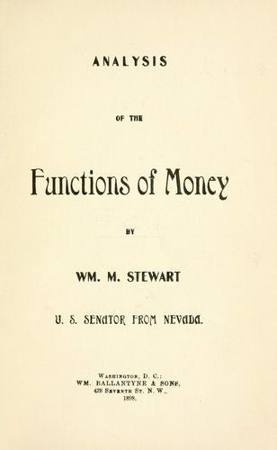 Download Analysis of the functions of money