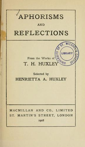 Download Aphorisms and reflections
