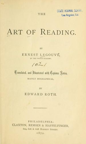 The art of reading.