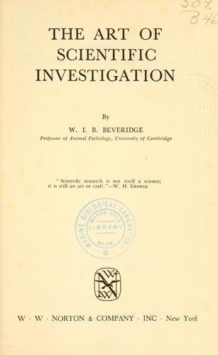 Download The art of scientific investigation.
