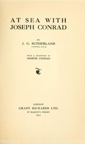Download At sea with Joseph Conrad