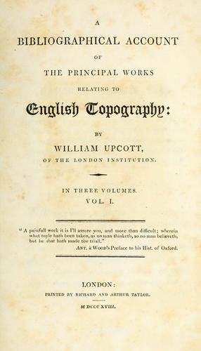 Download A bibliographical account of the principal works relating to English topography