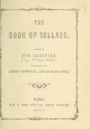 Download The book of ballads
