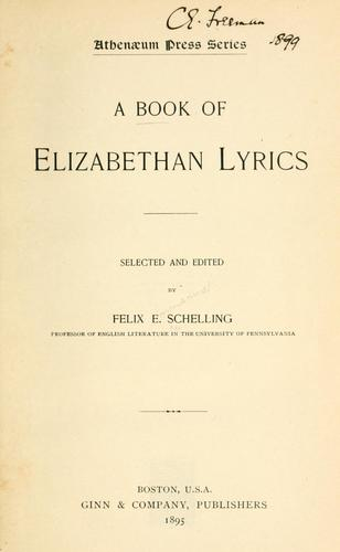 Download A book of Elizabethan lyrics