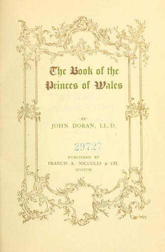 The book of the Princes of Wales.