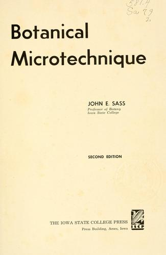 Botanical microtechnique.