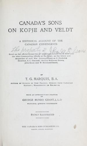 Download Canada's sons on kopje and veldt