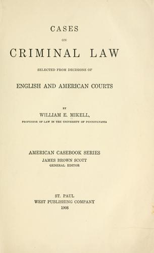 Download Cases on criminal law