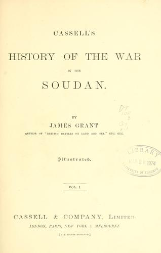 Download Cassell's history of the war in the Soudan.
