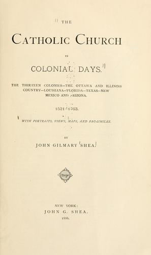Download The Catholic church in colonial days