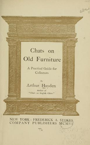 Download Chats on old furniture