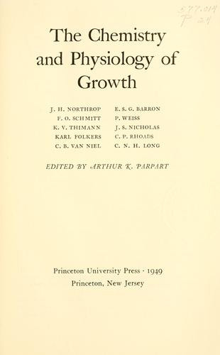 Download The chemistry and physiology of growth