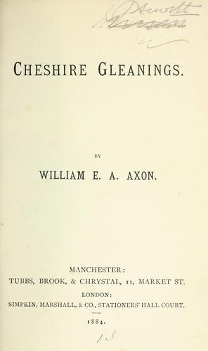 Download Cheshire gleanings.