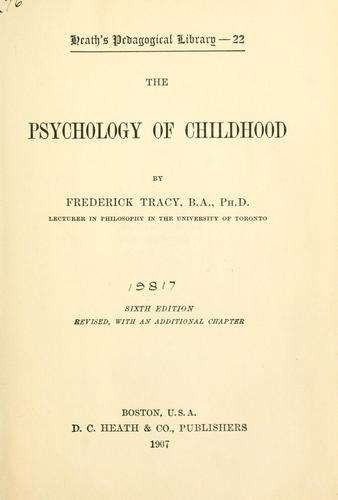 The psychology of childhood.