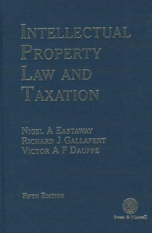 Download Intellectual property law and taxation