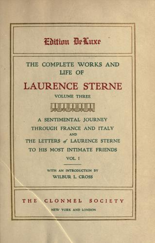 The complete works and life of Laurence Sterne (Volume III)