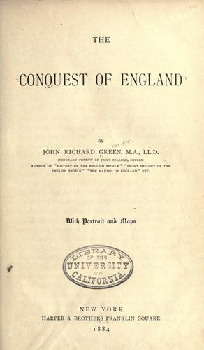 The conquest of England.