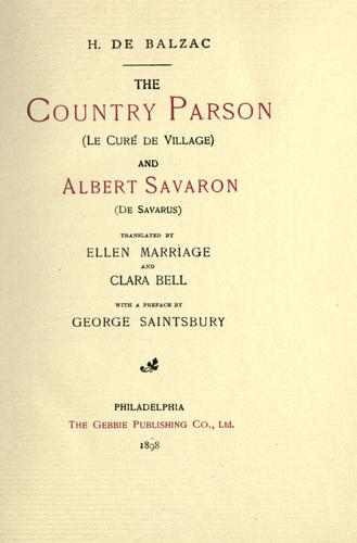 Country parson