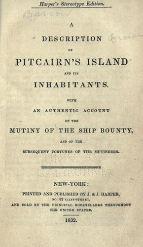 A description of Pitcairn's island and its inhabitants.