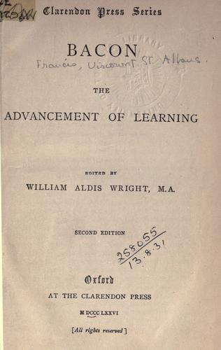 The  advancement of learning.