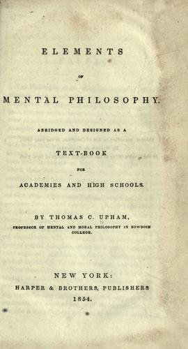Download Elements of mental philosophy