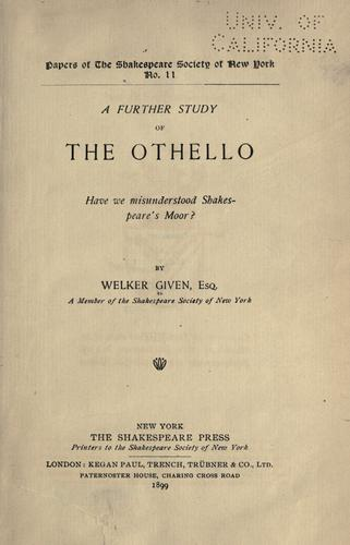 Download A further study of the Othello