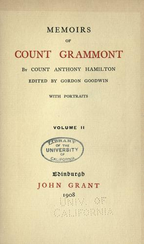 Download Memoirs of Count Grammont