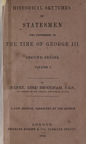 Download Historical sketches of statesmen who flourished in the time of George III