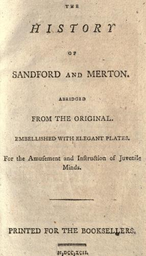 Download The history of Sandford and Merton