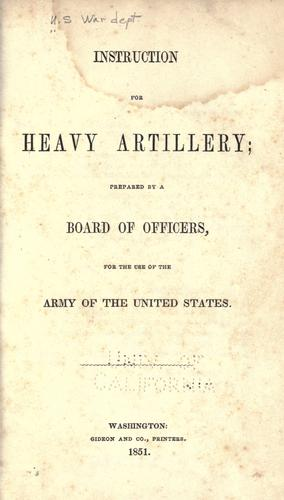 Instruction for heavy artillery