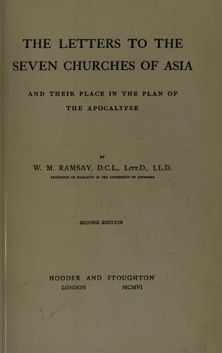 Download The letters to the seven churches of Asia and their place in the plan of the Apocalypse.