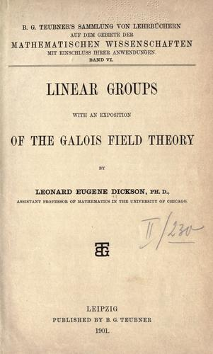 Linear groups