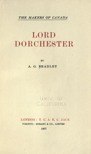Download Lord Dorchester.