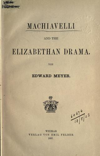 Download Machiavelli and the Elizabethan drama