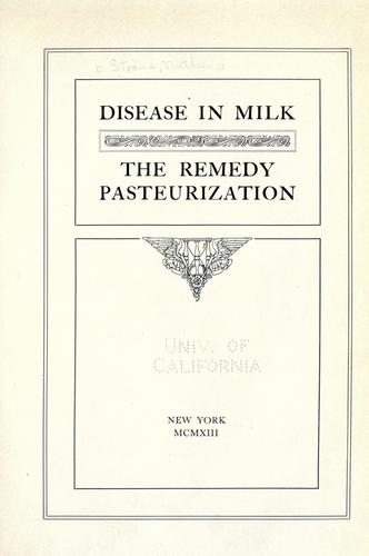 Disease in milk