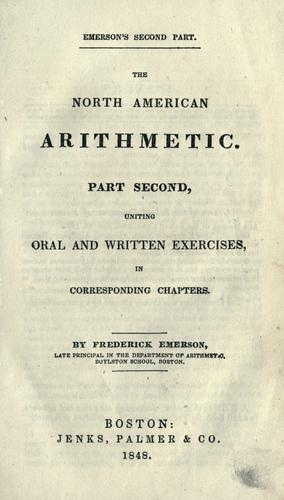 Download The North American arithmetic
