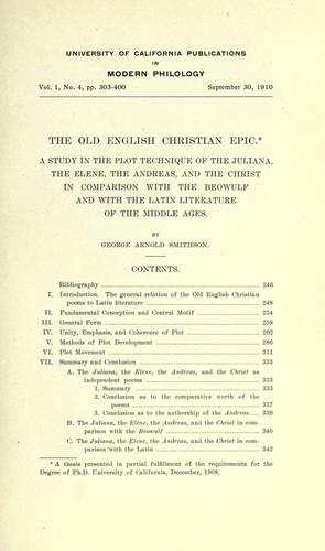 Download The Old English Christian epic