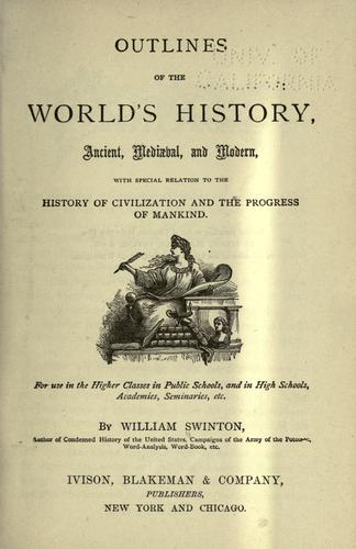 Download Outlines of the world's history