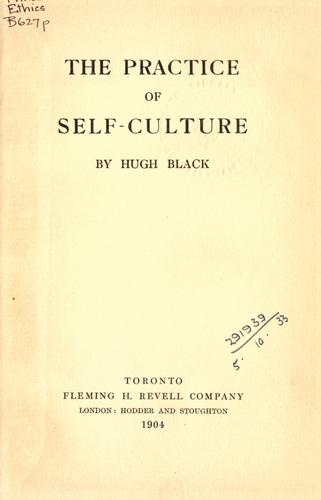 The practice of self-culture.