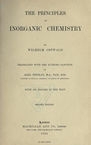 Download The principles of inorganic chemistry