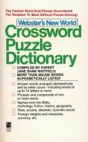 Webster's New World crossword puzzle dictionary by Jane Shaw Whitfield