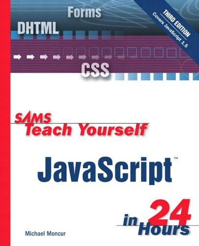 Download Sams Teach Yourself JavaScript in 24 Hours