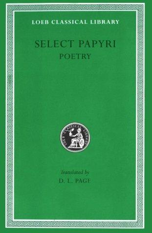 Literary papyri--poetry by Denys Lionel Page